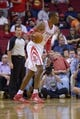 Oct 16, 2013; Houston, TX, USA; Houston Rockets center Dwight Howard (12) against the Orlando Magic during the first half at Toyota Center. Mandatory Credit: Thomas Campbell-USA TODAY Sports