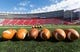 Oct 12, 2013; Madison, WI, USA; Footballs sit on the field prior to the game between the Northwestern Wildcats and Wisconsin Badgers at Camp Randall Stadium.  Wisconsin won 35-6.  Mandatory Credit: Jeff Hanisch-USA TODAY Sports