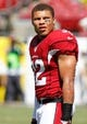 Sep 29, 2013; Tampa, FL, USA; Arizona Cardinals defensive back Tyrann Mathieu (32) against the Tampa Bay Buccaneers works out prior to the game at Raymond James Stadium. Mandatory Credit: Kim Klement-USA TODAY Sports
