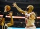 Oct 18, 2013; Chicago, IL, USA; Chicago Bulls forward Carlos Boozer fights for the ball against the Indian Pacers forward David West at United Center. Mandatory Credit: Matt Marton-USA TODAY Sports