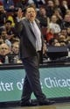 Oct 18, 2013; Chicago, IL, USA; Chicago Bulls coach Tom Thibodeau yells against the Indiana Pacers at the United Center. Mandatory Credit: Matt Marton-USA TODAY Sports