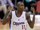 Oct 18, 2013; Los Angeles, CA, USA; Los Angeles Clippers shooting guard Jamal Crawford (11) looks for a foul call in the second half of the game against the Portland Trail Blazers at the Staples Center. Mandatory Credit: Jayne Kamin-Oncea-USA TODAY Sports