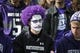 Oct 19, 2013; Evanston, IL, USA; A Northwestern Wildcats fan watches during the second half against the Minnesota Golden Gophers at Ryan Field.  The Minnesota Golden Gophers defeated the Northwestern Wildcats 20-17. Mandatory Credit: David Banks-USA TODAY Sports