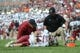 Oct 19, 2013; Knoxville, TN, USA; South Carolina Gamecocks quarterback Connor Shaw (14) was injured during the second half against the Tennessee Volunteers at Neyland Stadium. Tennessee won 23 to 21.  Mandatory Credit: Randy Sartin-USA TODAY Sports