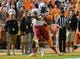 Oct 19, 2013; Knoxville, TN, USA; South Carolina Gamecocks running back Mike Davis (28) scores a touchdown against the Tennessee Volunteers during the second half at Neyland Stadium. Tennessee won 23 to 21.  Mandatory Credit: Randy Sartin-USA TODAY Sports