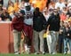 Oct 19, 2013; Knoxville, TN, USA; South Carolina Gamecocks defensive tackle Kelcy Quarles (99) was injured during the second half against the Tennessee Volunteers at Neyland Stadium. Tennessee won 23 to 21.  Mandatory Credit: Randy Sartin-USA TODAY Sports
