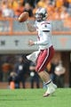 Oct 19, 2013; Knoxville, TN, USA; South Carolina Gamecocks quarterback Connor Shaw (14) passes the ball against the Tennessee Volunteers during the second half at Neyland Stadium. Tennessee won 23 to 21.  Mandatory Credit: Randy Sartin-USA TODAY Sports