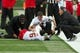 Oct 19, 2013; Winston-Salem, NC, USA; Maryland Terrapins wide receiver Deon Long (6) lays on the field after being injured during the second quarter against the Wake Forest Demon Deacons at BB&T Field. Mandatory Credit: Jeremy Brevard-USA TODAY Sports