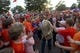Oct 19, 2013; Clemson, SC, USA; Clemson Tigers quarterback Tajh Boyd (center) greets fans during the Tigerwalk prior to the game against the Florida State Seminoles at Clemson Memorial Stadium. Mandatory Credit: Joshua S. Kelly-USA TODAY Sports
