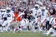 Oct 19, 2013; College Station, TX, USA; Texas A&M Aggies quarterback Johnny Manziel (2) runs with the ball against the Auburn Tigers during the second half at Kyle Field. Mandatory Credit: Soobum Im-USA TODAY Sports