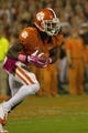 Oct 19, 2013; Clemson, SC, USA; Clemson Tigers wide receiver Sammy Watkins (2) returns a kickoff during the first quarter against the Florida State Seminoles at Clemson Memorial Stadium. Mandatory Credit: Joshua S. Kelly-USA TODAY Sports