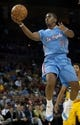 Oct 19, 2013; Las Vegas, NV, USA;  Los Angeles Clippers guard Chris Paul (3) shoots against the Denver Nuggets during an NBA preseason game at Mandalay Bay Events Center. The Clippers won the game in overtime 118-111. Mandatory Credit: Stephen R. Sylvanie-USA TODAY Sports