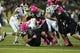 Oct 19, 2013; Eugene, OR, USA; Washington State Cougars running back Leon Brooks (23) is tackled by Oregon Ducks linebacker Rodney Hardrick (48) and linebacker Rodney Hardrick (48) at Autzen Stadium. Mandatory Credit: Scott Olmos-USA TODAY Sports