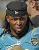 Oct 20, 2013; Jacksonville, FL, USA; Jacksonville Jaguars wide receiver Mike Brown (12) in the fourth quarter of their game against the  San Diego Chargers at EverBank Field. The San Diego Chargers defeated the Jacksonville Jaguars 24-6. Mandatory Credit: Phil Sears-USA TODAY Sports