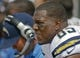 Oct 20, 2013; Jacksonville, FL, USA; San Diego Chargers tight end Antonio Gates (85) in the second quarter of their game against the Jacksonville Jaguars at EverBank Field. The San Diego Chargers defeated the Jacksonville Jaguars 24-6. Mandatory Credit: Phil Sears-USA TODAY Sports