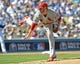 October 16, 2013; Los Angeles, CA, USA; St. Louis Cardinals starting pitcher Joe Kelly (58) during game five of the National League Championship Series against the Los Angeles Dodgers at Dodger Stadium. Mandatory Credit: Jayne Kamin-Oncea-USA TODAY Sports