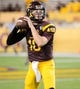 Oct 12, 2013; Tempe, AZ, USA; Arizona State Sun Devils quarterback Taylor Kelly (10) practices during warm ups before the first quarter against the Colorado Buffaloes at Sun Devil Stadium. The Sun Devils beat the Buffaloes 54-13. Mandatory Credit: Casey Sapio-USA TODAY Sports