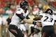 Oct 5, 2013; Tampa, FL, USA; Cincinnati Bearcats quarterback Brendon Kay (11) hands the ball off to running back Hosey Williams (23) against the South Florida Bulls during the second half at Raymond James Stadium. South Florida Bulls defeated the Cincinnati Bearcats 26-20. Mandatory Credit: Kim Klement-USA TODAY Sports