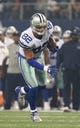 Oct 13, 2013; Arlington, TX, USA; Dallas Cowboys tight end Jason Witten (82) runs after a reception in the first quarter against the Washington Redskins at AT&T Stadium. Mandatory Credit: Matthew Emmons-USA TODAY Sports