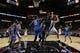 Oct 22, 2013; San Antonio, TX, USA; San Antonio Spurs guard Manu Ginobili (20) passes the ball under the basket against the Orlando Magic during the first half at AT&T Center. Mandatory Credit: Soobum Im-USA TODAY Sports