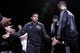 Oct 22, 2013; San Antonio, TX, USA; San Antonio Spurs guard Cory Joseph (5) is introduced prior to a preseason game against the Orlando Magic at AT&T Center. Mandatory Credit: Soobum Im-USA TODAY Sports