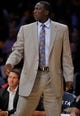 Oct 22, 2013; Los Angeles, CA, USA; Utah Jazz head coach Tyrone Corbin during the first half against the Los Angeles Lakers at Staples Center. Mandatory Credit: Robert Hanashiro-USA TODAY Sports