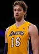Oct 22, 2013; Los Angeles, CA, USA;  Los Angeles Lakers power forward Pau Gasol (16) during the Lakers' pre-season game against the Utah Jazz at Staples Center. Mandatory Credit: Robert Hanashiro-USA TODAY Sports