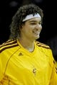 Oct 19, 2013; Cleveland, OH, USA; Cleveland Cavaliers forward Anderson Varejo (17) before the game against the Indiana Pacers at Quicken Loans Arena. Mandatory Credit: Ken Blaze-USA TODAY Sports