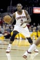 Oct 19, 2013; Cleveland, OH, USA; Cleveland Cavaliers guard Dion Waiters (3) during the game against the Indiana Pacers at Quicken Loans Arena. Mandatory Credit: Ken Blaze-USA TODAY Sports