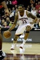 Oct 19, 2013; Cleveland, OH, USA;Cleveland Cavaliers guard Alonzo Gee (33) during the game against the Indiana Pacers at Quicken Loans Arena. The Pacers beat the Cavaliers 102-79. Mandatory Credit: Ken Blaze-USA TODAY Sports