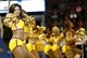 Oct 23, 2013; Cincinnati, OH, USA; Cleveland Cavaliers cheerleaders perform during a game against the Washington Wizards at US Bank Arena. Mandatory Credit: David Kohl-USA TODAY Sports