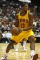 Oct 23, 2013; Cincinnati, OH, USA; Cleveland Cavaliers forward Tristan Thompson (13) looks to pass against the Washington Wizards in the first half at US Bank Arena. Mandatory Credit: David Kohl-USA TODAY Sports