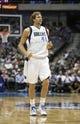 Oct 23, 2013; Dallas, TX, USA; Dallas Mavericks power forward Dirk Nowitzki (41) reacts during the game against the Atlanta Hawks at American Airlines Center. Dallas won 99-88. Mandatory Credit: Kevin Jairaj-USA TODAY Sports