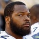 Aug 8, 2013; San Diego, CA, USA; Seattle Seahawks defensive end Michael Bennett (72) during a game against the San Diego Chargers  at Qualcomm Stadium. Mandatory Credit: Jody Gomez-USA TODAY Sports