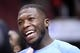 Oct 25, 2013; Chicago, IL, USA; Denver Nuggets point guard Nate Robinson (10) practices before the game against the Chicago Bulls at the United Center. Mandatory Credit: Mike DiNovo-USA TODAY Sports