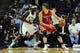 Oct 25, 2013; Memphis, TN, USA; Houston Rockets center Omer Asik (3) posts up against Memphis Grizzlies power forward Zach Randolph (50) during the second quarter at FedExForum. Mandatory Credit: Justin Ford-USA TODAY Sports