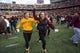 Oct 26, 2013; Minneapolis, MN, USA; Minnesota Golden Gophers fans run on the field after beating the Nebraska Cornhuskers at TCF Bank Stadium. The Gophers won 34-23. Mandatory Credit: Jesse Johnson-USA TODAY Sports