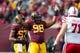 Oct 26, 2013; Minneapolis, MN, USA; Minnesota Golden Gophers defensive lineman Michael Amaefula (98) attempts to pump up the crowd in the second half against the Nebraska Cornhuskers at TCF Bank Stadium. The Gophers won 34-23. Mandatory Credit: Jesse Johnson-USA TODAY Sports