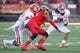 Oct 26, 2013; College Park, MD, USA; Clemson Tigers  running back Zac Brooks (24) runs for a gain against the Maryland Terrapins at Byrd Stadium. Mandatory Credit: Mitch Stringer-USA TODAY Sports