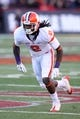 Oct 26, 2013; College Park, MD, USA; Clemson Tigers  wide receiver Sammy Watkins (2) goes on a pass route against the Maryland Terrapins at Byrd Stadium. Mandatory Credit: Mitch Stringer-USA TODAY Sports