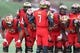 Oct 26, 2013; College Park, MD, USA; Maryland Terrapins quarterback Caleb Rowe (7) leads the offensive huddle against the Clemson Tigers at Byrd Stadium. Mandatory Credit: Mitch Stringer-USA TODAY Sports