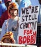 Oct 26, 2013; Tallahassee, FL, USA; Florida State Seminoles fans celebrate the return of Bobby Bowden during the game against the North Carolina Wolfpack at Doak Campbell Stadium. Mandatory Credit: Melina Vastola-USA TODAY Sports