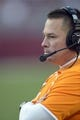 Oct 26, 2013; Tuscaloosa, AL, USA; Tennessee Volunteers head coach Butch Jones watches from the sidelines against the Alabama Crimson Tide during the fourth quarter at Bryant-Denny Stadium. Mandatory Credit: John David Mercer-USA TODAY Sports