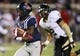 Oct 26, 2013; Oxford, MS, USA; Mississippi Rebels running back Jaylen Walton (6) runs with the ball to score a touchdown against the Idaho Vandals at Vaught-Hemingway Stadium. Mandatory Credit: Spruce Derden-USA TODAY Sports