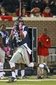 Oct 26, 2013; Oxford, MS, USA;  Mississippi Rebels wide receiver Ja-Mes Logan (85) reaches out for a pass during the game against the Idaho Vandals at Vaught-Hemingway Stadium. Mississippi Rebels win the game against the Idaho Vandals with a score of 59-14.  Mandatory Credit: Spruce Derden-USA TODAY Sports