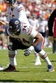 Oct 20, 2013; Landover, MD, USA; Chicago Bears tackle Jermon Bushrod (74) lines up against the Washington Redskins at FedEx Field. Mandatory Credit: Geoff Burke-USA TODAY Sports