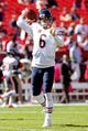Oct 20, 2013; Landover, MD, USA; Chicago Bears quarterback Jay Cutler (6) throws the ball during warm ups prior to the Bears game against the Washington Redskins at FedEx Field. Mandatory Credit: Geoff Burke-USA TODAY Sports