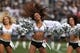 Oct 27, 2013; Oakland, CA, USA; Oakland Raiders cheerleaders perform during a timeout against the Pittsburgh Steelers during the first quarter at O.co Coliseum. Mandatory Credit: Kelley L Cox-USA TODAY Sports