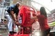 Oct 27, 2013; Phoenix, AZ, USA; Former Arizona Cardinals player Bertrand Berry cranks the Big Red Siren prior to the game against the Atlanta Falcons at University of Phoenix Stadium. Mandatory Credit: Matt Kartozian-USA TODAY Sports