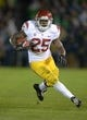 Oct 19, 2013; South Bend, IN, USA; Southern California Trojans tailback Silas Redd (25) carries the ball against the Notre Dame Fighting Irish at Notre Dame Stadium. Notre Dame defeated USC 14-10. Mandatory Credit: Kirby Lee-USA TODAY Sports